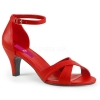 DIVINE-435 Red Faux Leather